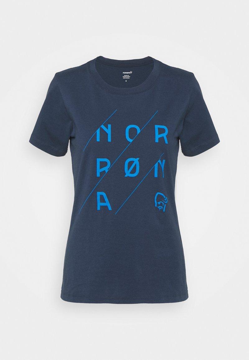 Norrøna - /29 SLANT LOGO - T-shirt imprimé - indigo night