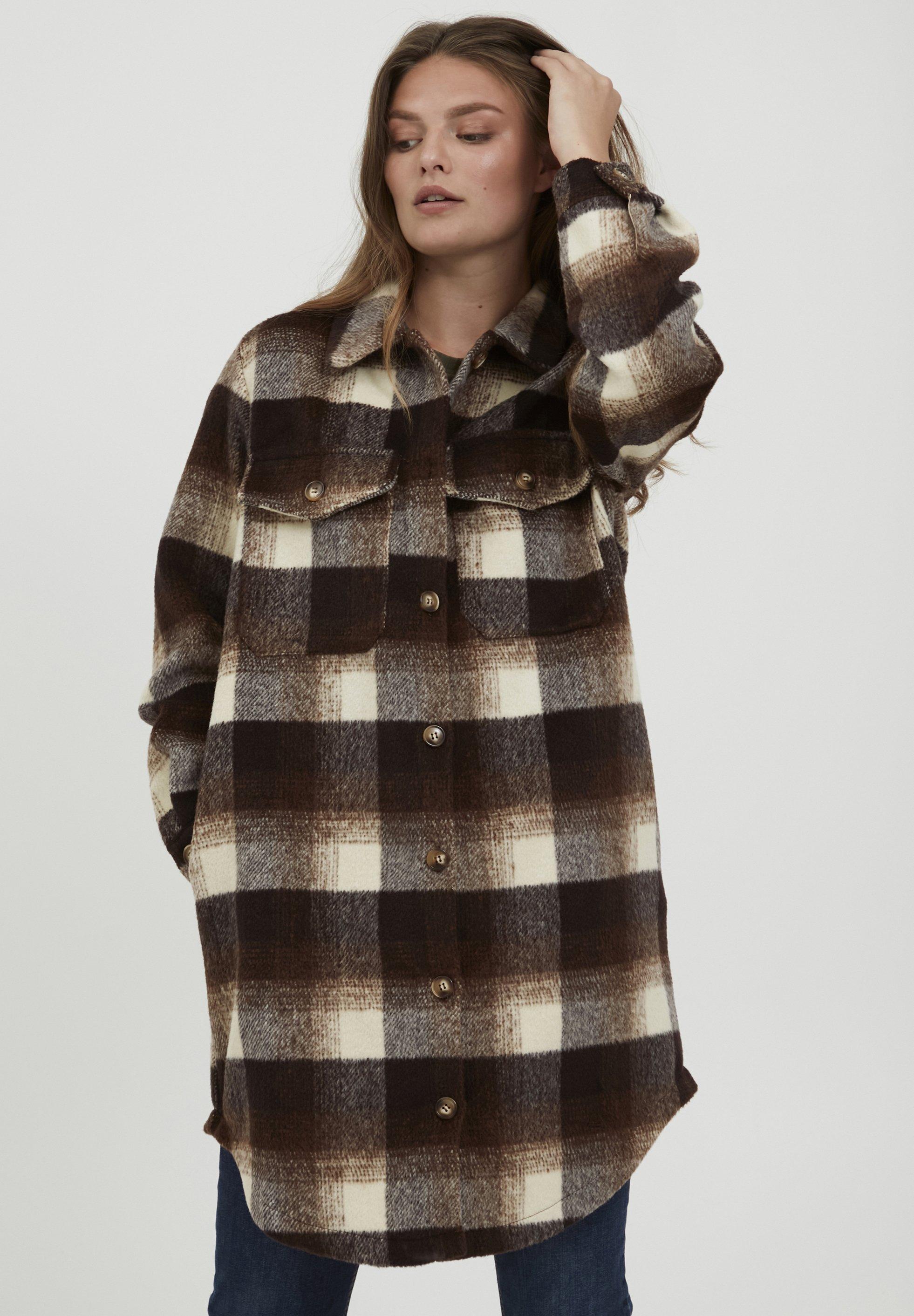 Donna FRBAPLAID - Cappotto corto