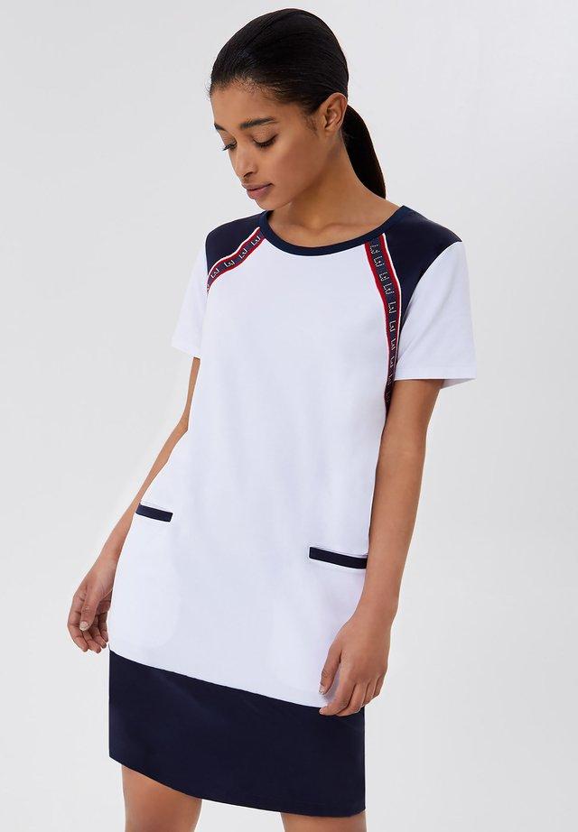 Sukienka z dżerseju - white/blue