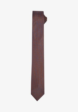SEIDENKRAWATTE - Tie - dunkelbraun