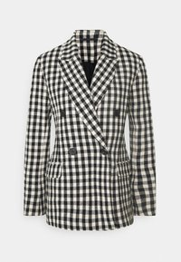 MACADAMIA CHECK - Short coat - black