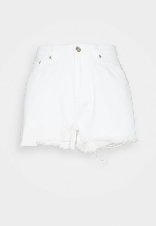 TALL EXTREME HIGH WAISTED SHORTS - Shorts - white