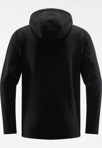 Haglöfs - BUNGY HOOD - Fleece jacket - true black - 6