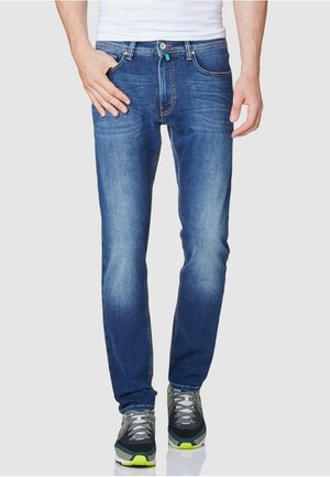 FLEX - Straight leg jeans - stone-blue denim