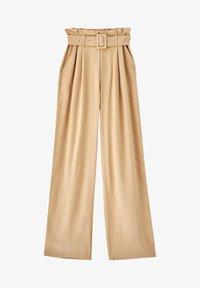 PULL&BEAR - Pantalon classique - beige - 4