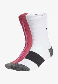 adidas Performance - RUNNING ULTRALIGHT CREW PERFORMANCE SOCKS - Sportsokken - white - 0