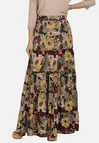usha - ROCK - Maxi skirt - flower print - 0