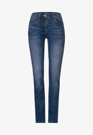 DENIM MIT KORDEL-GALON - Slim fit jeans - blau