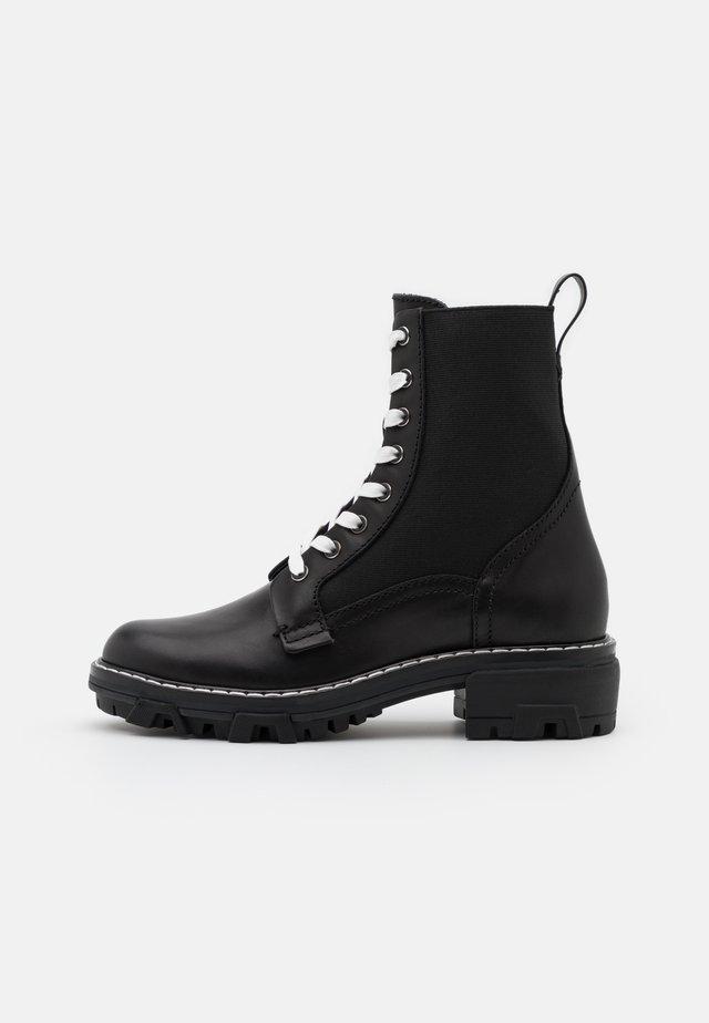 SHILOH - Bottines à lacets - black