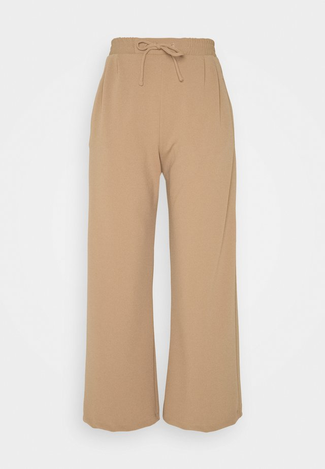 WIDE LEG JOGGER - Trousers - sand