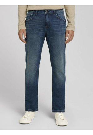 Straight leg jeans - stone wash denim