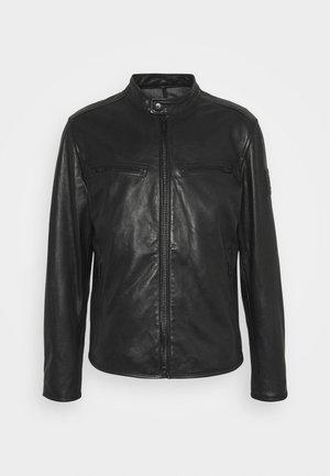 NORWICH - Kožená bunda - black