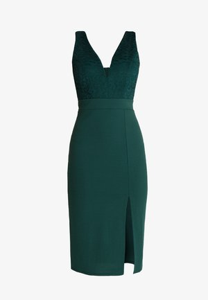 V NECK MIDI - Etuikleid - green