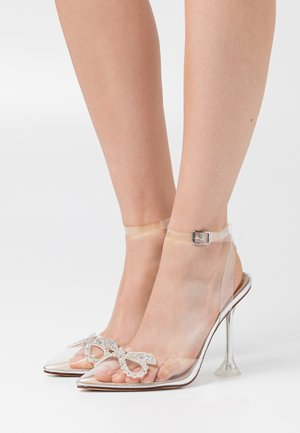 BEAUTY - High heels - clear/silver metallic