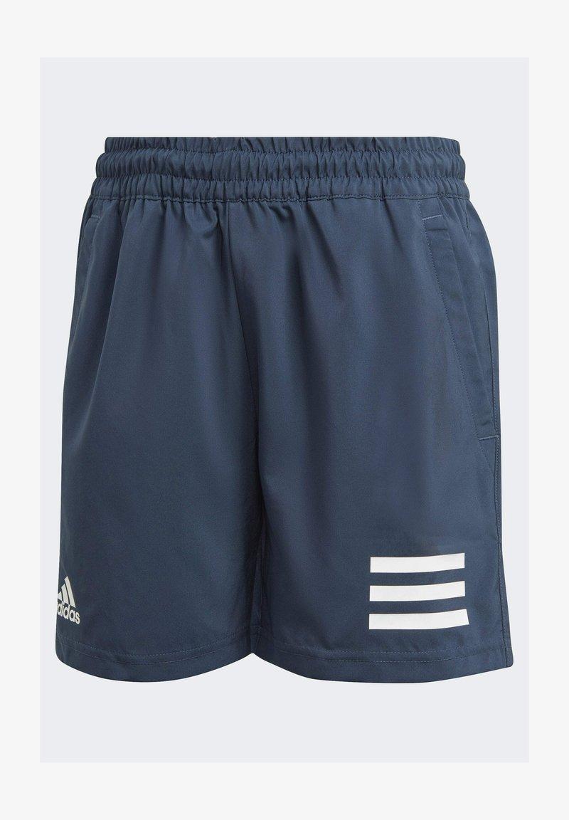adidas Performance - CLUB 3 STRIPES PRIMEGREEN SHORTS - Sports shorts - blue