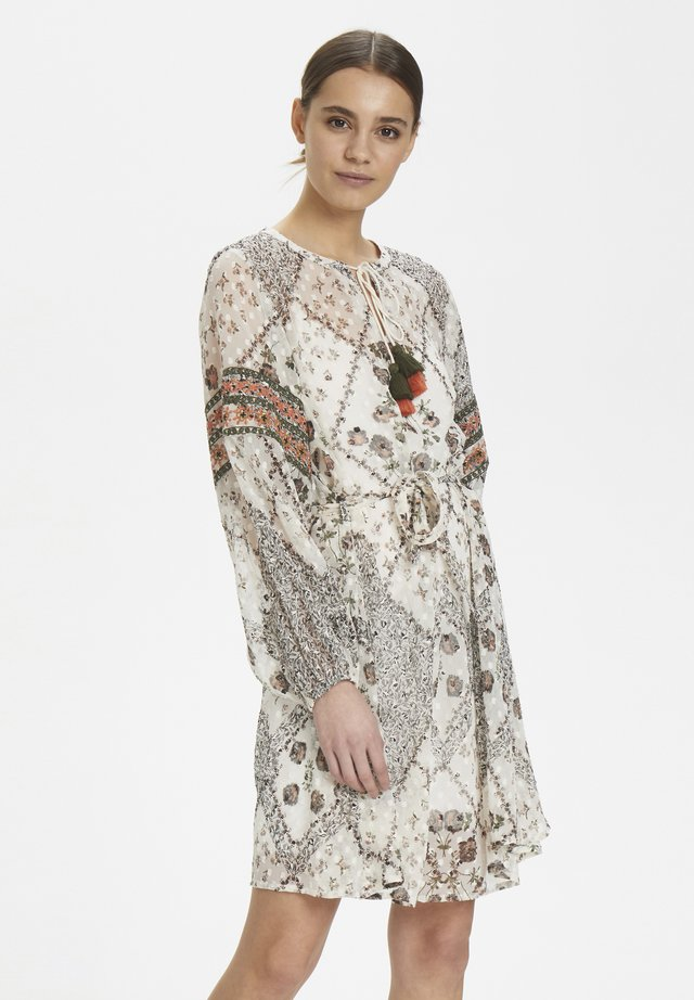 FABCR DRESS - Day dress - snow white with print
