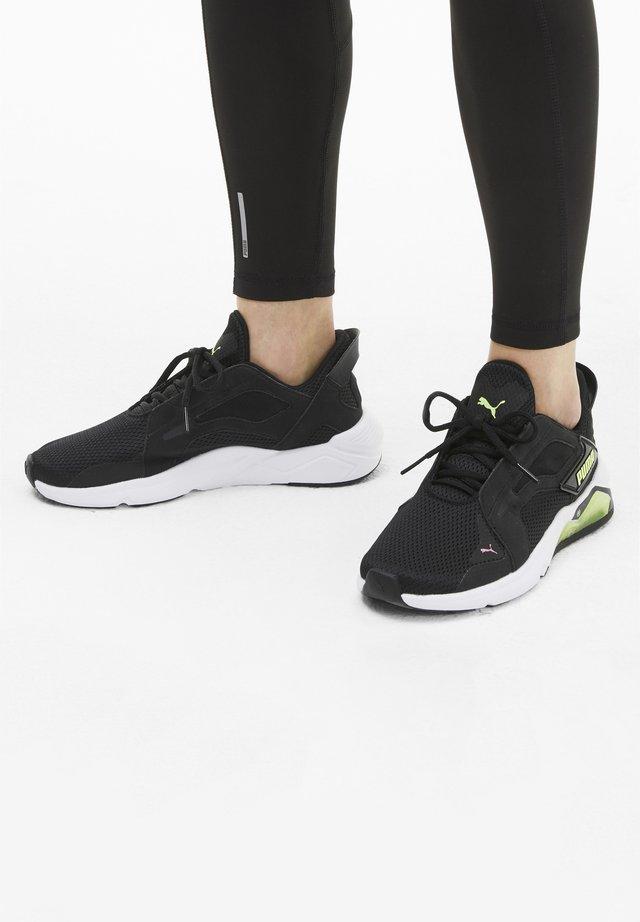 Sneaker low - black-fizzy yellow-pink