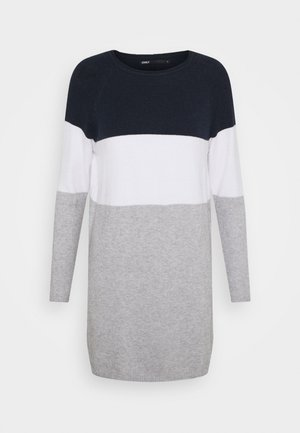 ONLLILLO DRESS - Gebreide jurk - night sky/white melange