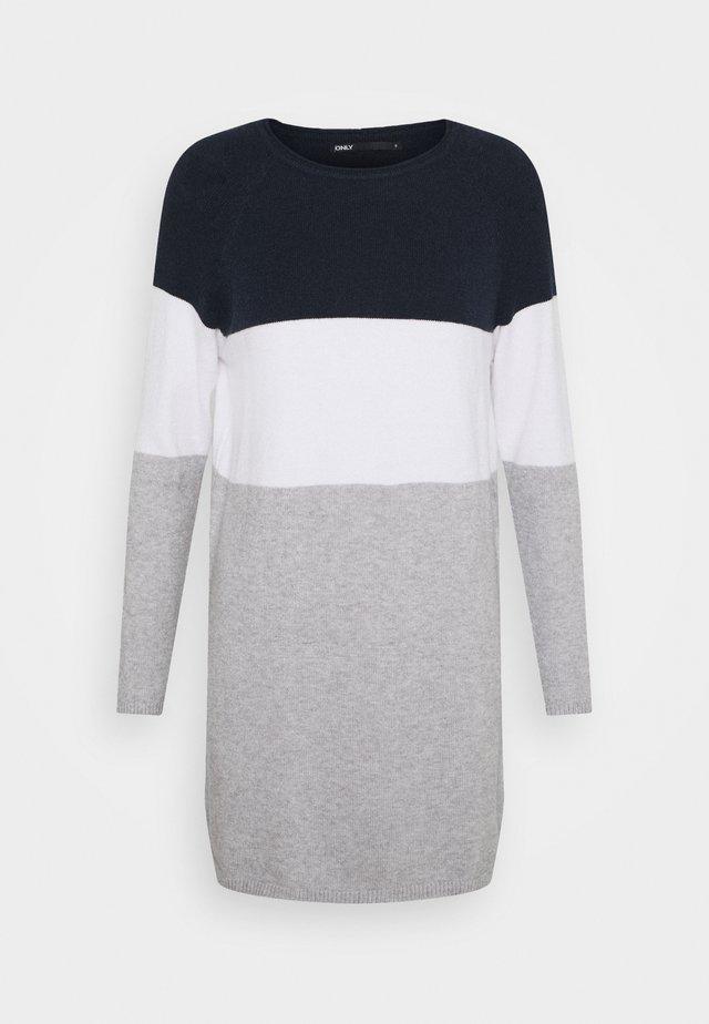 ONLLILLO DRESS - Jumper dress - night sky/white melange