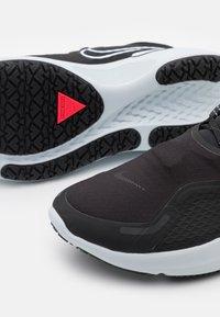 Nike Performance - REACT MILER SHIELD - Neutral running shoes - black/white/pure platinum/dark smoke grey/reflect silver - 5