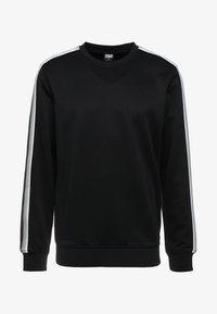 Urban Classics - SLEEVE TAPED CREWNECK - Sweatshirt - black/grey - 3