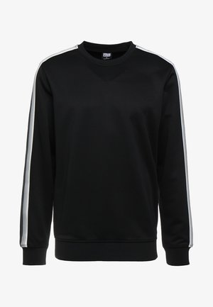 SLEEVE TAPED CREWNECK - Collegepaita - black/grey