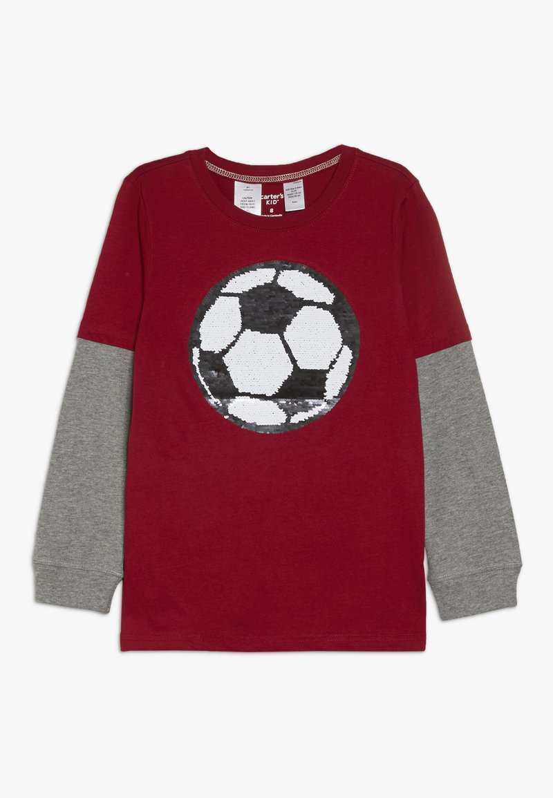 Carter's - KIDS FLIP SEQUIN TEE - Langærmede T-shirts - red