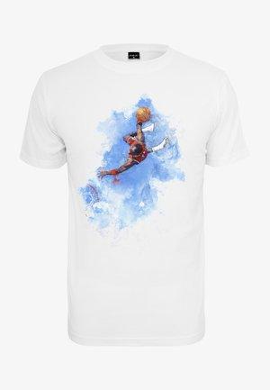 BASKETBALL CLOUDS - Triko spotiskem - white