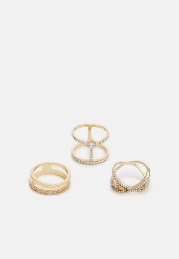 TERINIEL 3 PACK - Ring - clear on/gold-coloured