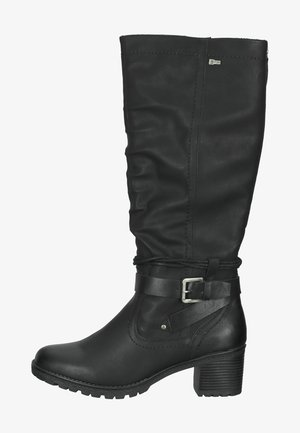 STIEFEL - Platform boots - noir brush