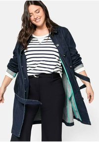 Sheego - Short coat - dark blue denim - 3