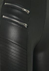 New Look Tall - BIKER - Kalhoty - black - 2