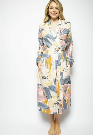 Dressing gown - grey peach