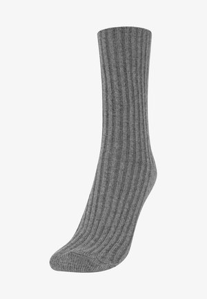 1 PAAR GROB GESTRICKTE SOCKEN 32868491 - Socks - grey