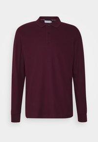 Calvin Klein - REFINED LONG SLEEVE  - Polo shirt - purple - 0