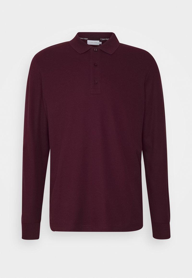 Calvin Klein - REFINED LONG SLEEVE  - Polo shirt - purple
