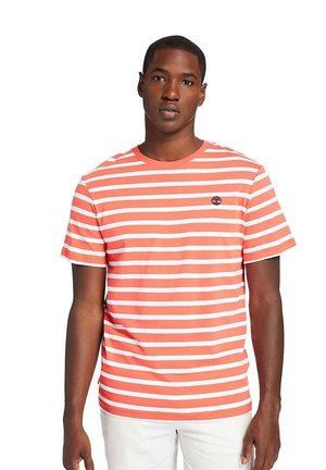 ZEALAND RIVER STRIPE - Print T-shirt - cayenne yd