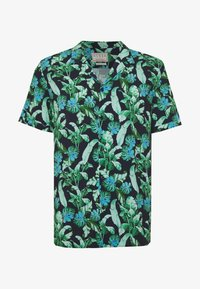 Guess - RESORT  - Shirt - green leaves on blue - 4