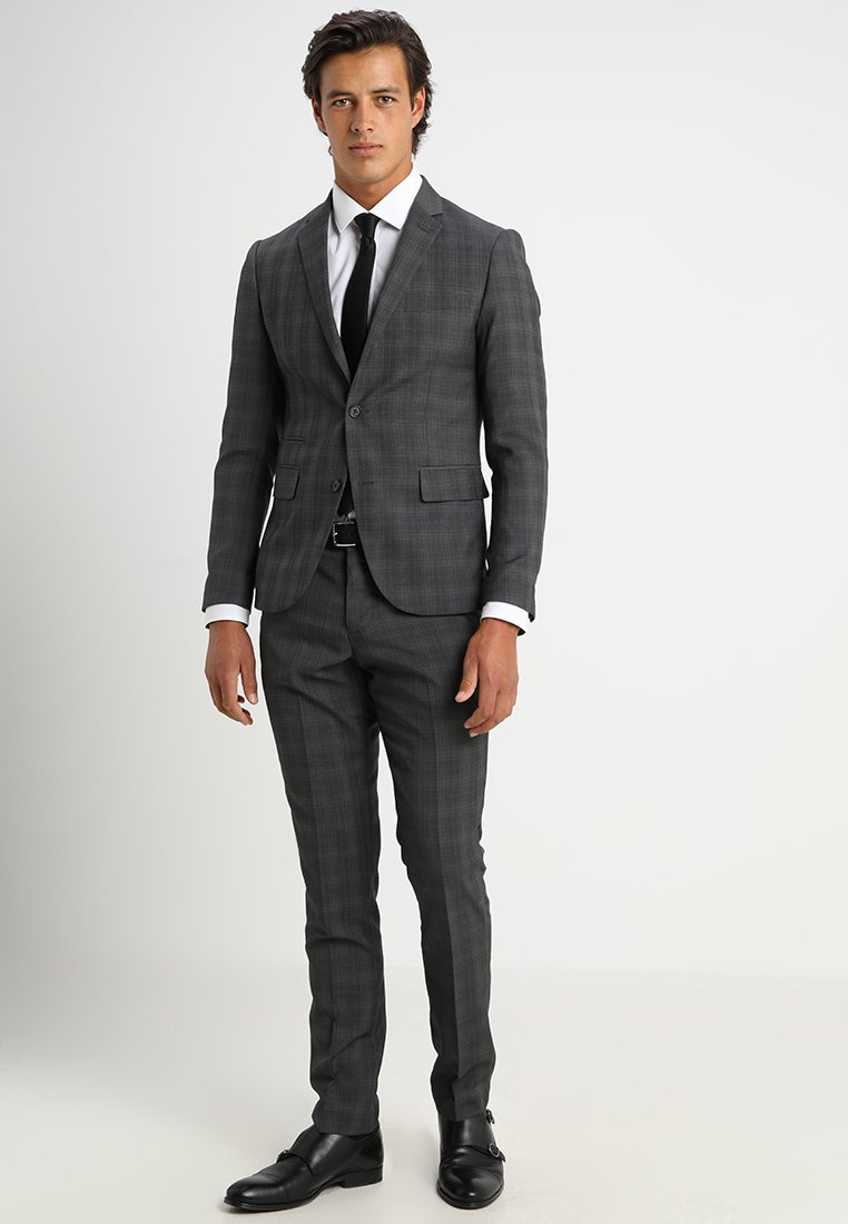 Lindbergh - MENS SUIT SLIM FIT - Completo - grey check