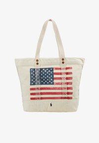 Polo Ralph Lauren - FLAG TOTE - Shopping Bag - ecru - 5