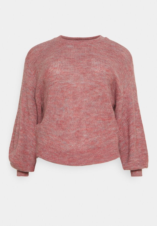 VMTUVILMA O-NECK - Stickad tröja - wild rose/melange