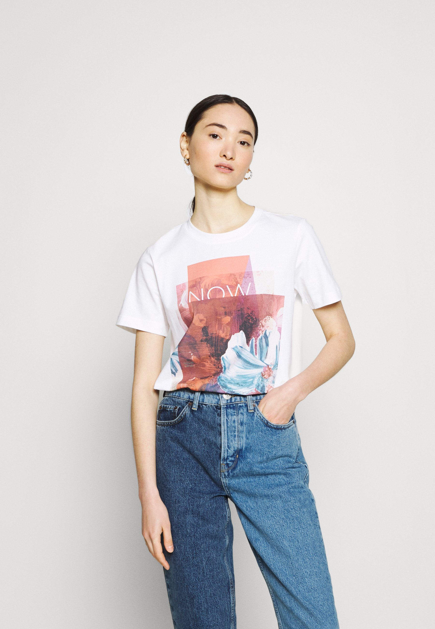 Women COLLAGE PRINT BOXY TEE - Print T-shirt