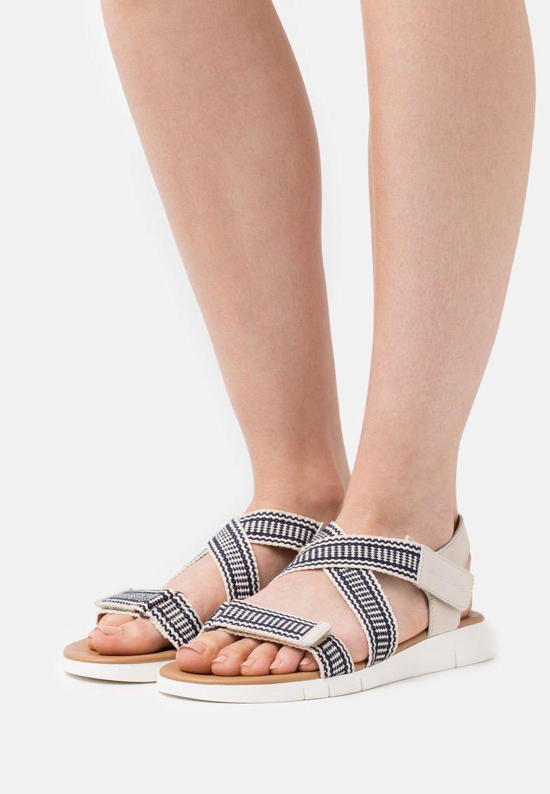 Marc O'Polo - VITTORIA  - Sandals - dark blue/offwhite