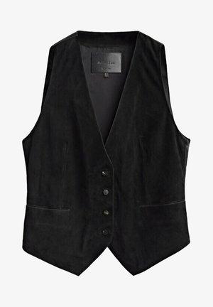 BLACK SUEDE WAISTCOAT LIMITED EDITION  04777555 - Waistcoat - black