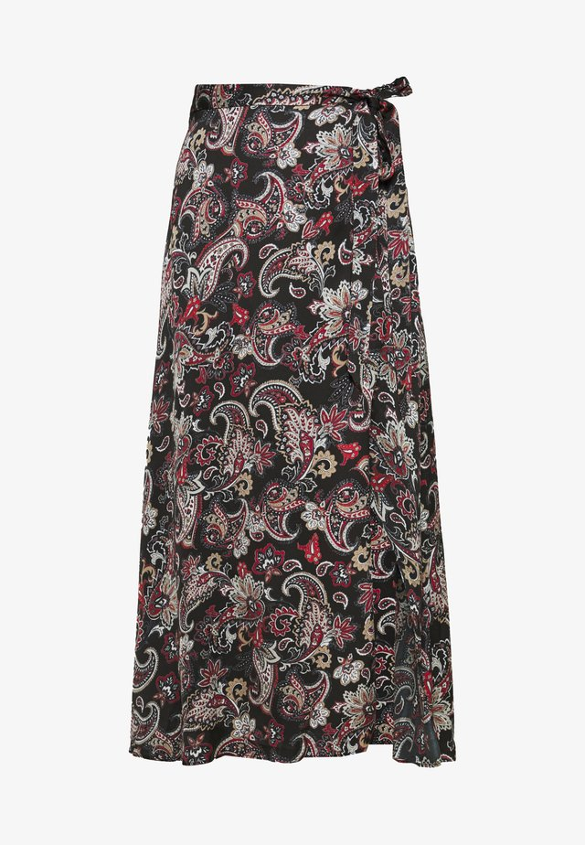 SKIRTS - Jupe longue - black/sand/natural white/red