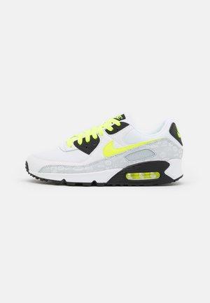 AIR MAX 90 - Sneakersy niskie - white/volt/black/pure platinum