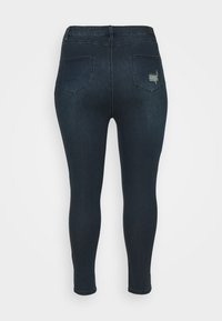 Simply Be - HIGH WAIST RIPPED SHORT - Jeans Skinny Fit - indigo - 1