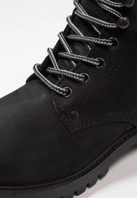 Jack & Jones - JFWSTOKE BOOT MONO - Šněrovací kotníkové boty - black - 5