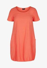 Zizzi - Day dress - hot coral - 0