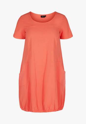 Day dress - hot coral
